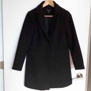 Topshop Classic Black Pea Coat Invisible Buttons…